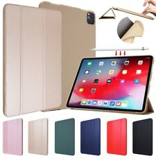 """For Apple iPad Pro 11"""" 2nd Gen 2020 PU Leather Smart Stand Soft Back Case Cover"""