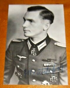 HELMUT GROB PANZER DIVISION SIGNED PHOTOGRAPH