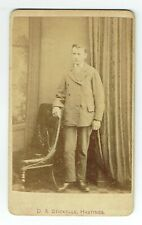 Victorian cdv photo young man standing Hastings photographer