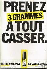Publicité advertising 1984 La Colle Pattex