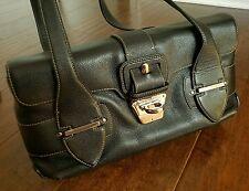 Beautiful Authentic Salvatore Ferragamo Black Leather Handbag Purse EXCELLENT