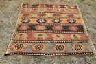 Unique Oushak Ethnic Carpet Anatolian Handmade Tribal Vintage Area Rug 3x4 ft