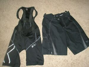 MENS ZXU CYCLING BIKE SUIT & PEARL IZUMI ATHLETIC SHORTS SIZE SMALL S