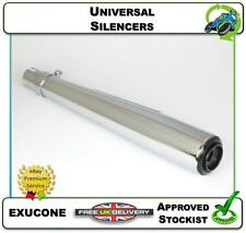 """NEW UNIVERSAL SILENCER CAFE RACER MOTORCYCLE EXHAUST 20"""" CHROME CONE"""