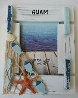 [Almost Unused]Guam Souvenirs Nice Seaside Photo frame Made in USA From Japan