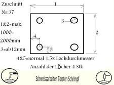 Ankerblech Fußplatte Bodenplatte Wandbefestigung Plasma Zuschnitt Nr.37 - S235