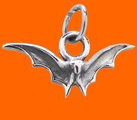 BAT Pendant 925 Sterling SILVER 17mm Drop Gothic Goth Halloween Vampire