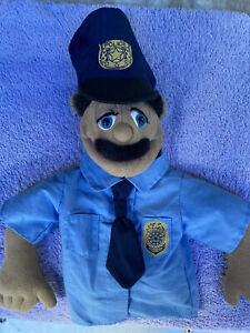 Melissa & Doug Hand Puppet Police Officer ~ Missing Wooden Hand Stick