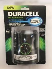 NEW Duracell Fast Charging Cup Holder Power Station 12V Dual Outlet 2 USB Ports