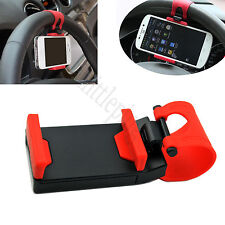 Mobile Phone Holder Mount Clip Buckle Socket Hands Free on Car Steering Wheel