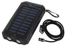 Solar Powerbank 10000 mAh Mit 3in1 Magnet USB Kabel - Power Bank Ladegerät Akku