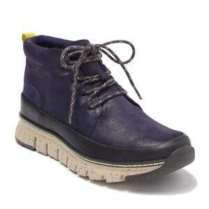 Cole Haan Men's Zerogrand Rugged Chukka Lightweight Leather Boot Slate Blue