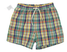 NEW Polo Ralph Lauren Swim Shorts (Bathing Suit)!  Small   Yellow Plaid