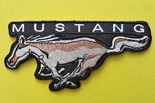 MOTOR RACING CAR SPEED FESTIVAL SEW ON / IRON ON PATCH:- MUSTANG (b) WILD HORSE