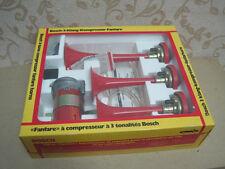NOS BOSCH 12V 3-tone Compressor FANFARE HORNS BMW E10 PORSCHE 911 OPEL Manta NSU