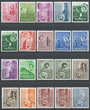 1953/58 Mauritius Elisabetta II 20v. SL (MNH) Cat SG 293/306+a-ab £ 147,00