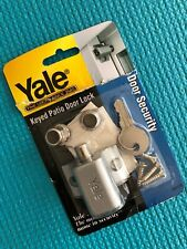 New Yale Locks DH1175 Keyed Patio Door Lock Silver Color (#GB- 110)