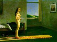 "Nude Woman in a Patch of Sunlight 8.5x11"" Photo Print Edward Hopper Fine Art"
