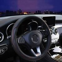 "Universal Black&Red PU Leather Car Steering Wheel Covers 38CM 15""/37 Good Grip"