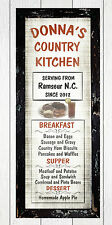 Personalized French Country Diner Kitchen Primitive Home Decor Menu Wall Sign