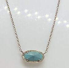Pretty Blue Turquoise Color Kendra Scott Pendant Necklace