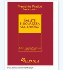 Memento Pratico Salute E Sicurezza 2020