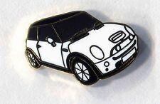 white bmw mini motor car lapel badge new shape  (192) THE ITIALIN JOB