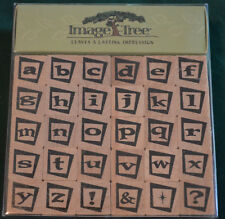 NEW IMAGE TREE ~ Alphabet Lowercase & Sign Set of Mounted Rubber Stamps (30)
