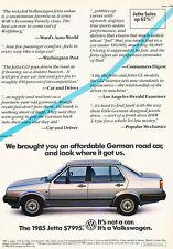 1985 Volkswagen Jetta VW - Sales - Classic Vintage Advertisement Ad D24