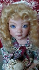 "Doll Wig,  Sabine 5-6""  dark blonde  Mohair by Global Dolls. New Mohair doll Wig"
