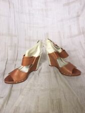 Mea Shadow Leather Wedge, Womens Shoes, Size 9M