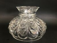 "Vintage 7"" B&H Rayo Aladdin Oil Hurricane Drape Style Clear Glass Lamp Shade"