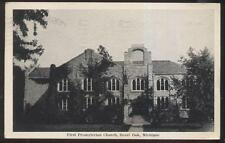 POSTCARD ROYAL OAK MICHIGAN/MI 1ST FIRST PRESBYTERIAN CHURCH 1930'S