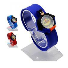Kids 3D Batman Cartoon Novelty Watch Analog silicon slap strap