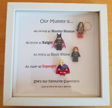 PERSONALISED MUMMY SUPERHERO SUPERWOMEN FRAME BIRTHDAY GIFT AUNTIE MUM NANA