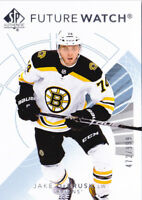17-18 SP Authentic Jake DeBrusk /999 Rookie Future Watch Bruins RC 2017