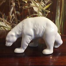 Porzellanmanufaktur REICHENBACH, Eisbär, weiß glasiertes Porzellan