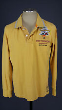 Parajumpers for Orsagrassa sz L Yellow Pique Slim Fit Cotton Long Sleeve Polo