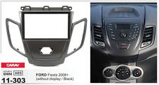 CARAV 11-303 2Din Marco Adaptador de Radio FORD Fiesta 2008+ sin display, negro
