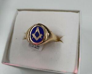 9ct Gold Reversible Masonic Ring 375