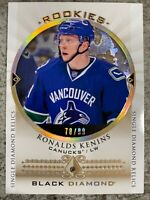 2015-16 UD BLACK DIAMOND RONALDS KENINS RELIC ROOKIES SINGLE /99 CANUCKS RC