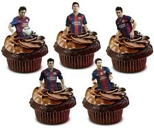 LIONEL MESSI BARCELONA FOOTBALL edible cup cake toppers decorations *STAND UPS*