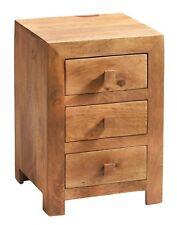3 Drawer Bedside Unit Ajak Light Mango Collection LB14