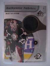 Martin Biron 2005-06 Upper Deck SP Game Used AUTHENTIC FABRICS JERSEY - BLACK