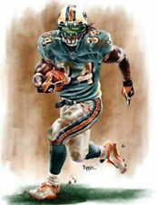 Ricky Williams Miami Dolphins 8 X 10 Giclee by James Byrne Series 1