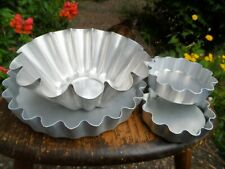Several Metal FLUTED QUICHE FLAN PIE TINS CAKE