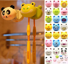 Cartoon Toothbrush Holder Stand Mount With Suction Grip Wall Rack Home Bathroom