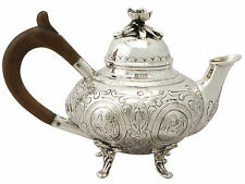 Dutch Sterling Silver Bachelor Teapot - Antique Edwardian