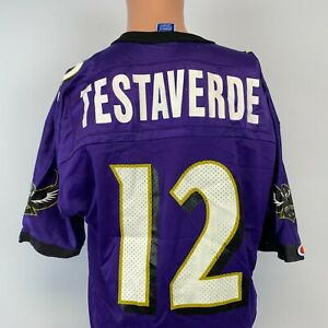 Champion Vinny Testaverde Baltimore Ravens Replica Jersey Vtg 90s NFL Purple 44