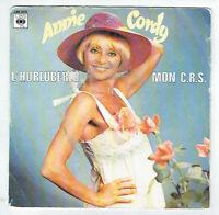 "Annie CORDY Vinyle 45 tours SP 7"" L'HURLUBERLU - MON C.R.S. - CBS 5278 RARE"